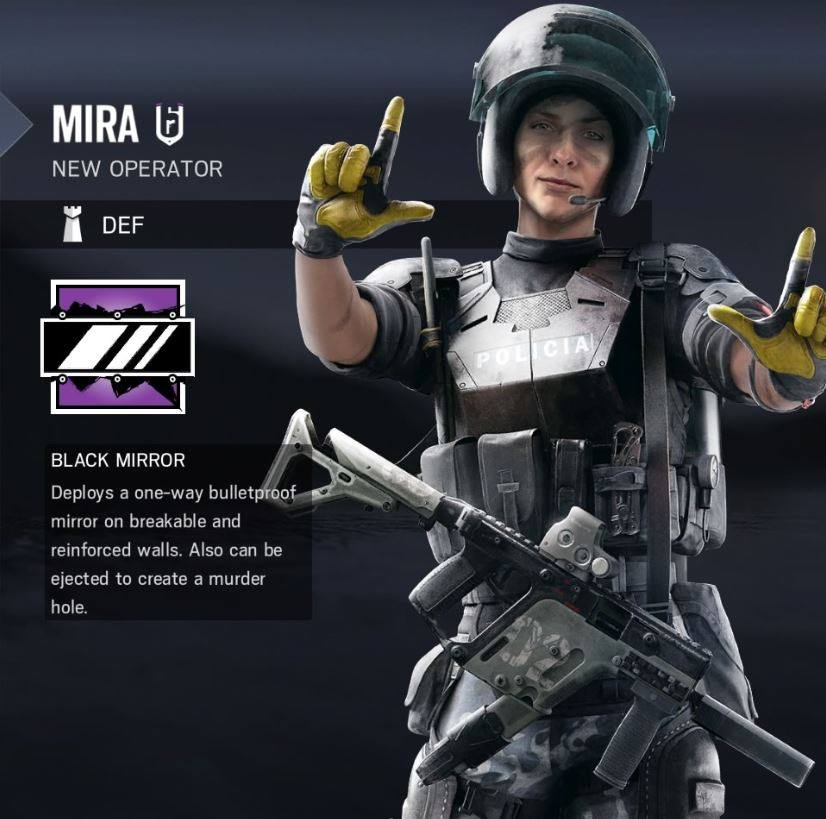 Rainbow Six Siege Mira